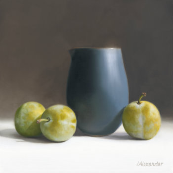 Oil painting - Still Life with Greengages