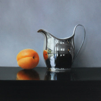 Oil painting - Apricot and Silver Jug