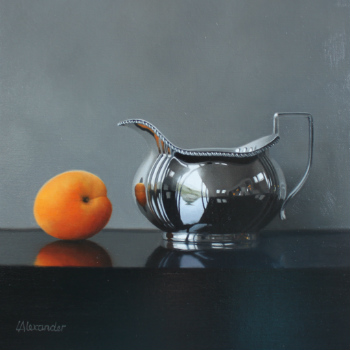 Oil painting - Apricot and Silver Jug II