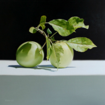 Oil painting - Green Apples