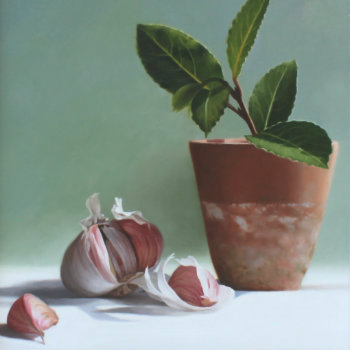 Oil painting - Still Life with Garlic